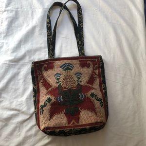 Rennie & Rose Tapestry Textile Fabric Art Zip Tote